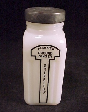 Griffith's Ground Ginger Spice Jar Depression Glass (Image1)