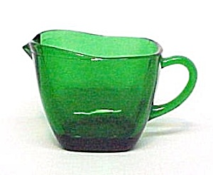 Anchor Hocking Charm Forest Green Creamer Fire King (Image1)