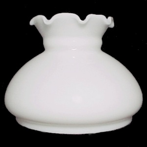 Milk Glass White 6 In Student Kerosene Oil Lamp Shade Chandelier Wall