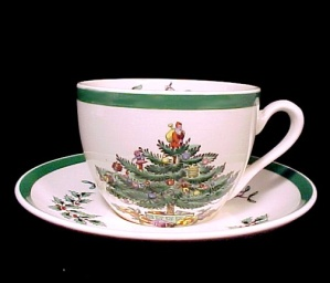 Spode Christmas Tree Cup & Saucer Holiday