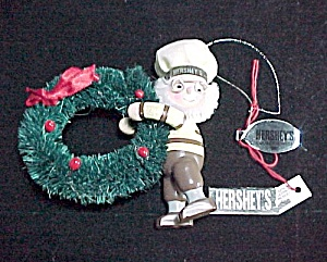 1995 Kurt Adler Hershey's Chocolate Christmas Tree Ornament Baker