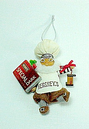 Kurt Adler Hershey's Dark Chocolate Christmas Tree Ornament Baker