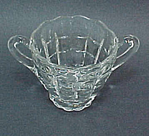 Cambridge Elegant Depression Glass Cascade Sugar Bowl