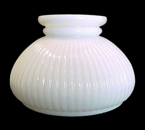 Milk Glass Lamp Shade Ribbed 7 In Student Desk Table Chandelier
