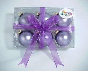 Blown Glass 6 Lavender 2.25 in Christmas Tree Ornaments (Image1)