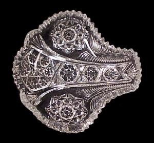 McKee Crystal Nappy Bon Bon Bowl EAPG Pattern Glass Old (Image1)