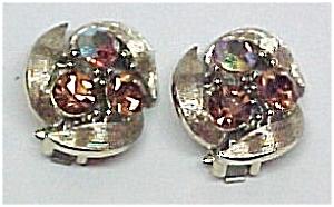 LISNER Pink Aurora Borealis Clip Earrings (Image1)