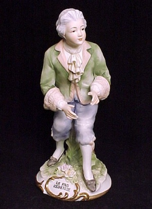Lefton China 18th Century Man Figurine Bisque Porcelain (Image1)