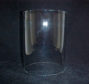 Cylinder 6 X 7.5 in Tube Glass Light Lamp Shade Candle Holder (Image1)