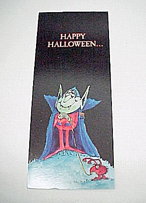 Count Dracula Vampire Halloween Greeting Card Vintage