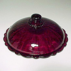 Anchor Hocking Glass Old Cafe Royal Ruby Candy Dish Lid (Image1)