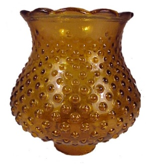 Amber Flashed Glass Hobnail Light Shade Chandelier Vanity Desk Lamp (Image1)