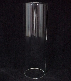 Cylinder 1 7/8 X 6 in Tube Light Lamp Shade Candle Holder Glass (Image1)