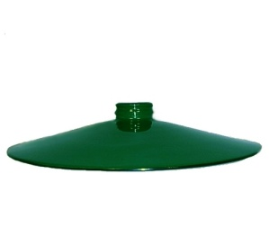 Industial Style Pendant Light Shade Metal Flat 2 1/4 X 14 Green  (Image1)