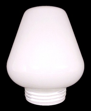 Milk Glass Acorn Threaded 3 1/4 X 7 X 5 3/4 Light Shade For Wall Lamp  (Image1)