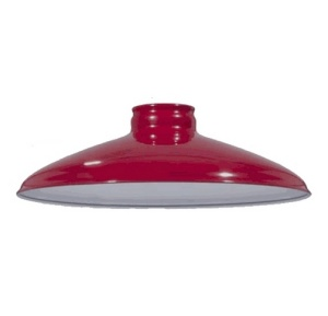 Cone Metal Lamp Light Shade Pendant 2.25 X 10 Red Porcelain (Image1)