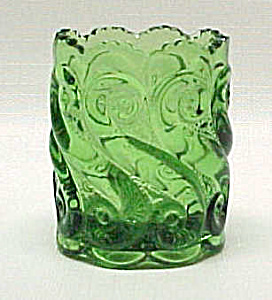 Circa 1903 National Glass S-repeat Green Toothpick