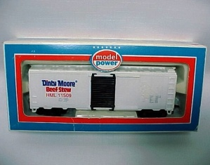 Dinty Moore Beef Stew HO Scale Train Toy 40' Reefer Car Advertising (Image1)