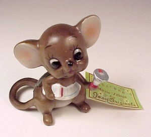 Josef Originals Teacher Mouse Village w/ TAG Bell Book (Image1)