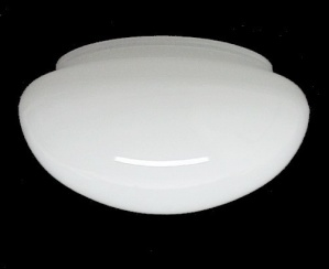 Ceiling Fan Light Shade White Cased Glass Pan 5 3/4 X 3 3/4 X 7 (Image1)