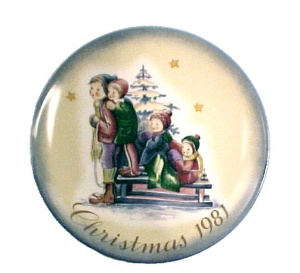 1981 Berta Hummel Collecters Plate Christmas A Time to Remember (Image1)