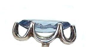 Sterling Silver Jewelry Blue Topaz Art Deco Ring Size 7 (Image1)