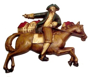 Syroco Wood  Paul Revere Wall Plaque July 4 Patriotic (Image1)