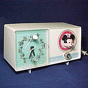 Vintage 1960s Mickey Mouse Ge Am Alarm Clock Radio