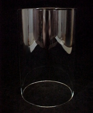 Cylinder Tube 4 X 6 Candle Holder Light Lamp Shade Clear Glass New  (Image1)