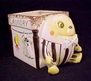 Humpty Dumpty Nursery Rhyme Decor Planter Laundry Day Vintage