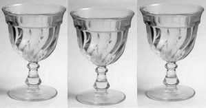 Fostoria Colony Depression Glass Water Goblet NICE (Image1)