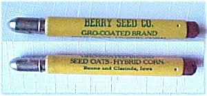 Berry Seed Co Bullet Pencil Boone Clarinda Iowa Ia Vntg