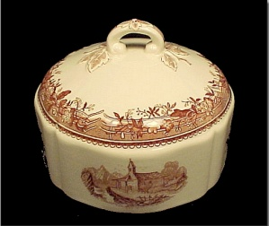 Villeroy & Boch Brown Burgenland Cheese Butter Dish Lid