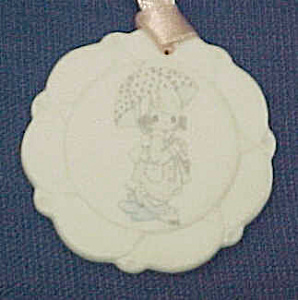 1994 Precious Moments April Birthday Christmas Ornament (Image1)