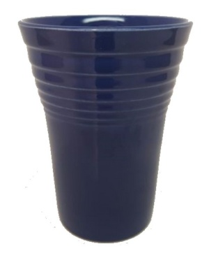 Fiesta Cobalt Water Tumbler Vintage Homer Laughlin 8 oz (Image1)