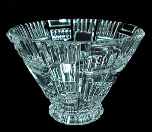 Waterford Crystal Marquis Bowl Contemporary Design 5 3/4 H X 7 3/4 W
