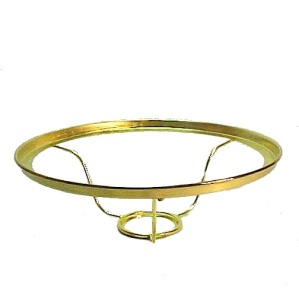 Solid Brass 10 inch Lamp Shade Ring Holder for Aladdin Kerosene Oil (Image1)