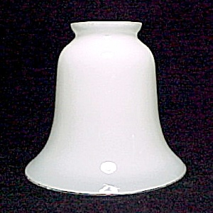 White Cased Glass Bell Light Shade 2 1/4 X 4 5/8 X 5 1/4 in (Image1)