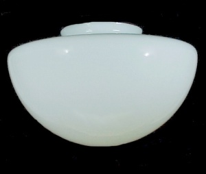 Dome Schoolhouse 6 X 14 Light Globe Shade White Milk Glass Pendant