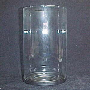 Partylite Clear Glass Cylinder Candle Holder Light 4 X 6.75 Lamp Tube