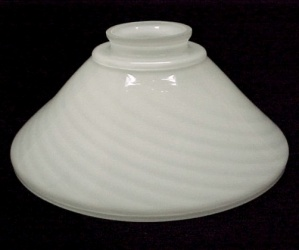 White Glass Swirl Cone Light Shade 2 1/4 X 7 Pendant Wall Sconce Chand