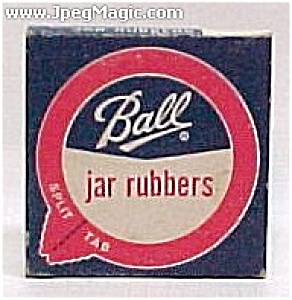 Ball Split Tab Canning Jar Lid Rubbers 12 In Box W/upc