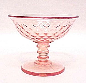 Diamond Quilted Pink Sherbet Imperial Depression Glass (Image1)