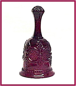 Avon Cape Cod Ruby Red Glass 1876 Hostess Dinner Bell