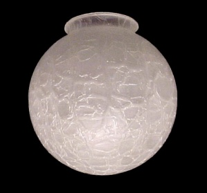 Light Shade Satin Crackle Glass 3 1 4 X 6 Ball Globe