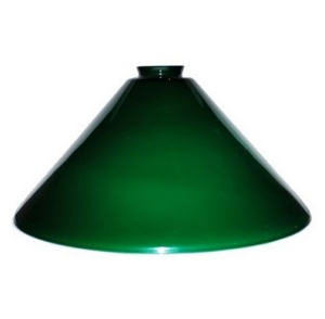 Pendant Light Shade Vianne Blue Green Glass 2.25 X 14 Cone Pool Table  (Image1)