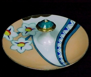 Noritake Art Deco Floral Lemon Dish Nappy Center Handle (Image1)
