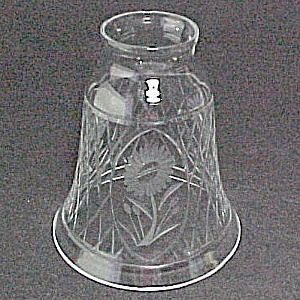 Floral Etched Lead Crystal Bell Light Shade 2 1/4 X 5 X 4 1/2 (Image1)