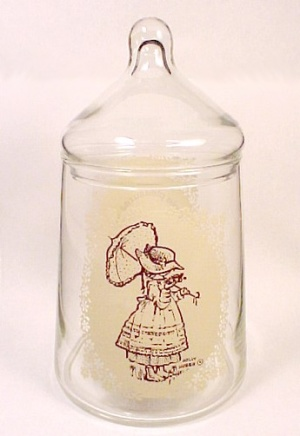 Holly Hobbie Doll Covered Candy Jar Canister Vintage 76