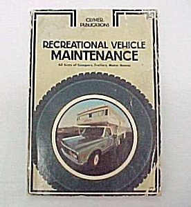 1973 Recreational Motor Vehicle Maintenance Manual Book (Image1)